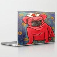 nurse Laptop & iPad Skins featuring NURSE PUG by SUZAN BUCKNER