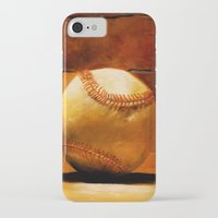 baseball iPhone & iPod Cases featuring Baseball by Michelle Sauer