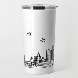 Beijing, China City Skyline Illustration Drawing Travel Mug
