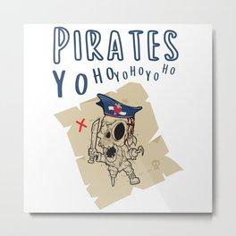 Pirate Schartz Card For Halloween Metal Print