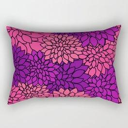 Pink Purple Dahlia Flowers Rectangular Pillow