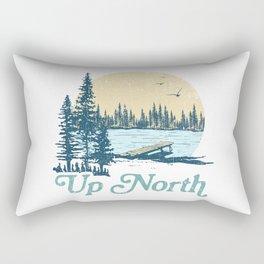 Vintage Up North Lake Rectangular Pillow