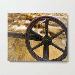 old locks wheel Metal Print
