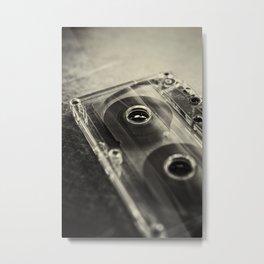 Audio Cassette II Metal Print