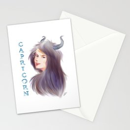 Capricorn Sign - Zodiac series by OccultArt Stationery Cards