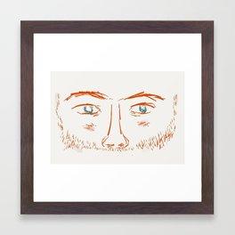 Ginger Beard Framed Art Print