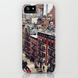 New York street views - Chinatown from Manhattan bridge iPhone Case