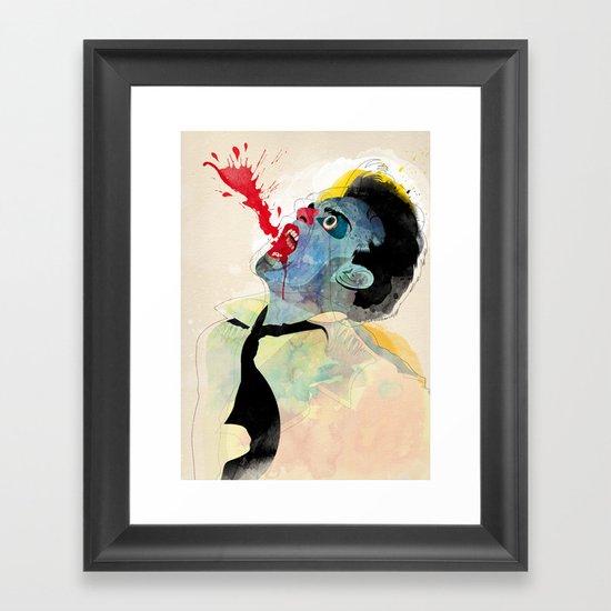 fountain v2 Framed Art Print