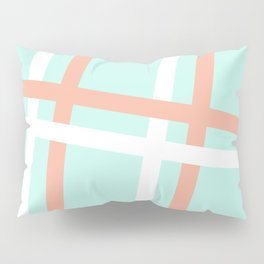 Turquoise & Coral (4) Pillow Sham