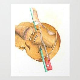 The Fiddle & Fiddler Art Print