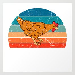 Chick Lover? Here's a cute t-shirt design with a cute illustration of Hen Chicken Rooster T-shirt Art Print