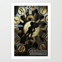 clockwork Art Prints featuring Clockwork by Shelley Spencer