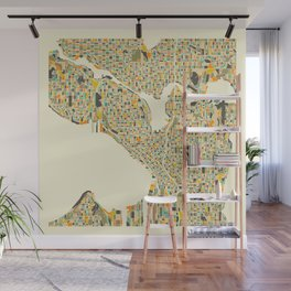 SEATTLE Map Wall Mural