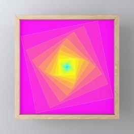 Magenta, Yellow, and Cyan Squares Framed Mini Art Print