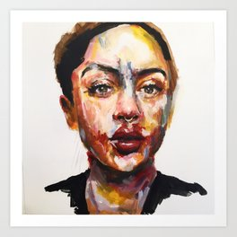 Print of Portrait in Acrylic Art Print