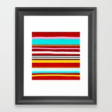 Watermelon Red Striped Colors Framed Art Print