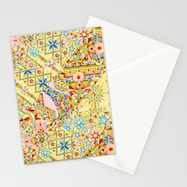 Sunshine Crazy Quilt (printed) Stationery Cards