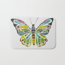 Colorful Butterfly Bath Mat