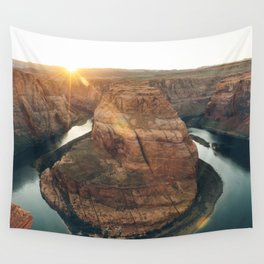 Horseshoe Bend at Sunset Wall Tapestry