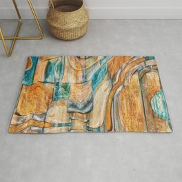Southwest Desert Abstract Rug