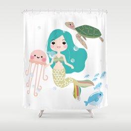 The little mermaid Shower Curtain