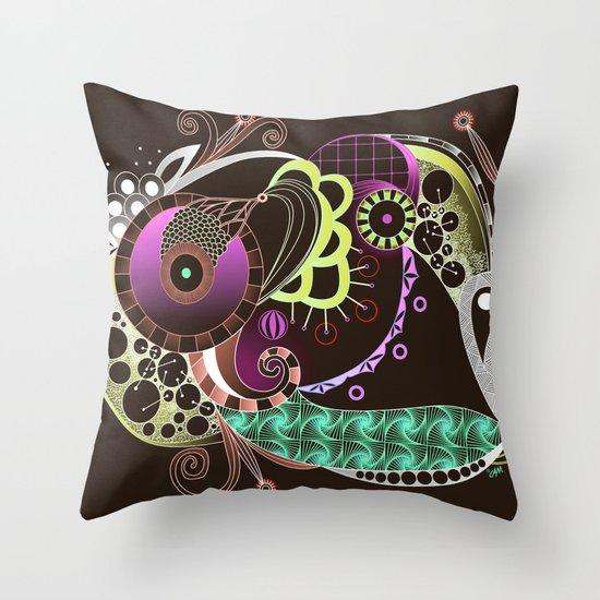 Autumn tangle night Throw Pillow
