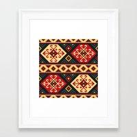 kilim Framed Art Prints featuring Colorful Kilim by Pattern Design