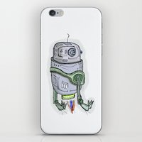 robot iPhone & iPod Skins featuring robot by Rabassa