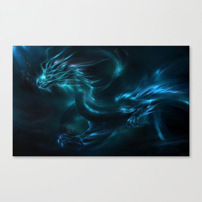 Blue dragon Leinwanddruck