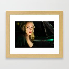 Sideways Stare Framed Art Print