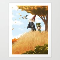 over the garden wall Art Prints featuring Over the Garden Wall by Kiana
