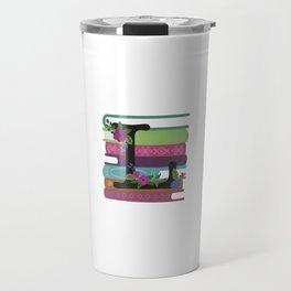 Bookish Monogram Collection L Travel Mug