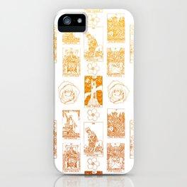 Beautiful Golden Tarot Card Print iPhone Case