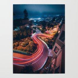 Lombard Street San Francisco California Poster