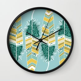 Dancing Feathers Wall Clock