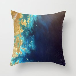 Ocean from above Throw Pillow