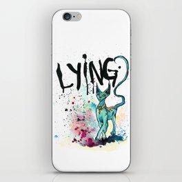 Lying Cat iPhone Skin