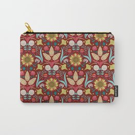 Florid Dreams Red Carry-All Pouch