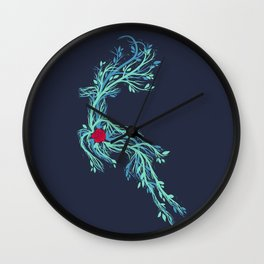 Spirit Vines (Dark Blue) Wall Clock
