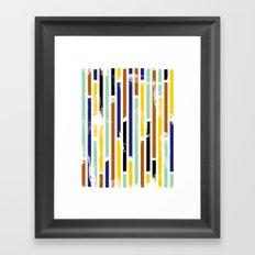 Stripey Framed Art Print