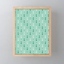 Daisy pot summer flower bloom seamless pattern. Framed Mini Art Print