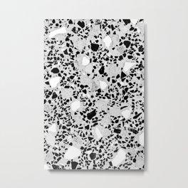 Real Terrazzo Stone Marble Concrete Mix Pattern Metal Print