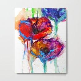 Poppy Petals Metal Print