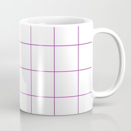Graph Paper (Purple & White Pattern) Coffee Mug