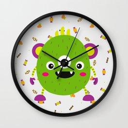 A litle green montr Wall Clock