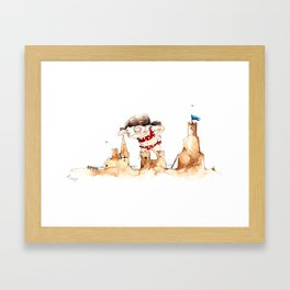 Sandcastleday Framed Art Print