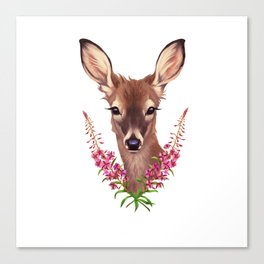 Fireweed Deer Canvas Print