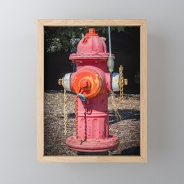Molting Mueller Super Centurions Fire Hydrant Colorful Fireplug Framed Mini Art Print