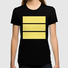 Yellow with White Squiggly Lines T-shirt
