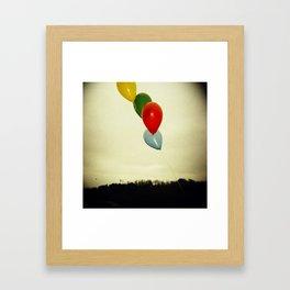 Overcast Balloons Framed Art Print